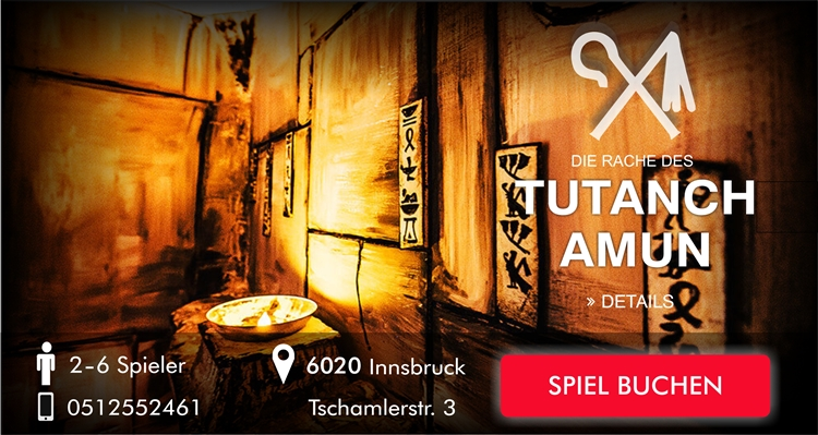 Escape Room Innsbruck - Die Rache des Tutanchamun