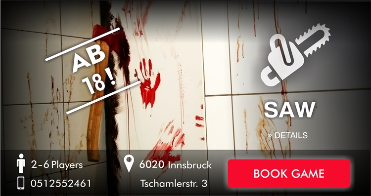saw book escape game innsbruck