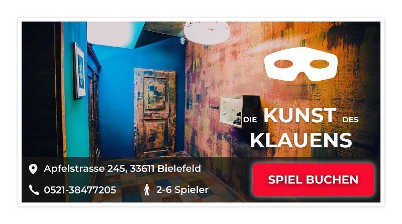 Escape Room Bielefeld Game: Die Kunst des Klauens